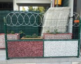 2x2 cm hasır tel ile dekoratif gabion sepet
