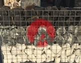 5x5 cm çelik hasır/hasır tel ile farklı taş katmanları ile hazırlanmış Gabion sepet/ Gabion tel uyugulaması