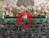 6x6 cm çelik hasır/hasır tel ile hazırlanmış gabion sepet/gabion tel şelale uygulaması