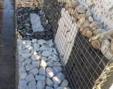 4x4 cm  çelik hasır/hasır tel ile hazırlanmış gabion sepet/ gabion duvar uygulması