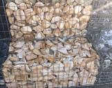 5x15 cm hasır tel ile hazırlanmış kahve beyaz tonlu tanburlu gabion sepet/gabion tel uygulaması1